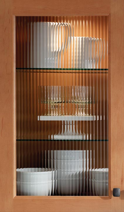 Ribbed Glass Kitchen Cabinet Doors