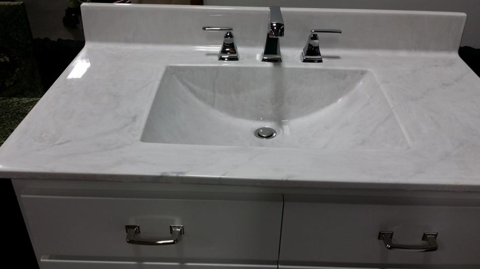 Cabinets granite quartz tile high point nc greensboro nc - Cultured marble bathroom vanity tops ...