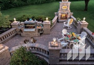 Outdoor Stone Kitchen - High Point, Greensboro NC