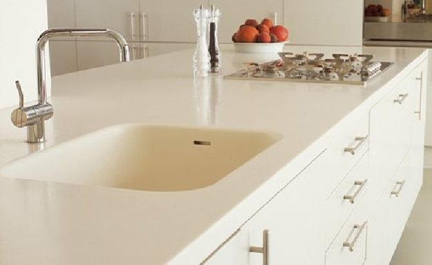 Solid surface care and maintenance the stone studio inc for Solid surface counters