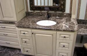 dark cultured marble vanity